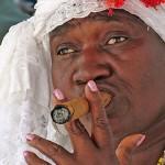 Santera-with-cigar