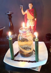 One of Rev. Dr. E.'s lottery luck rustic oil lamps! Learn to make one like this at his workshop this year.