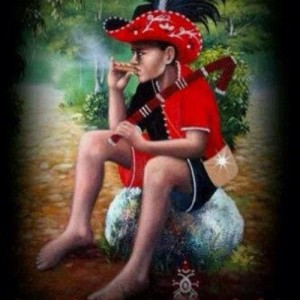 An artist's depiction of Eleggua as a young child.