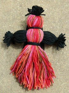 "An ""orisha spirit doll"" sold by a vendor claiming it will allow the owner to petition the orisha Oya and gain blessings of prosperity."