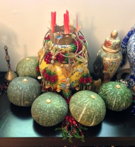 Pumpkins are a very important ebó when someone receives the odu Obara Meji. They are a gift for Oshún and Changó to bring prosperity.
